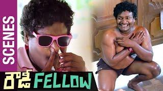 Rowdy Fellow Telugu Movie Scenes | Satya Hilarious Comedy in Police Station as Gavva Gavaskar