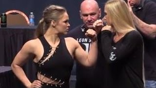 UFC 193: Ronda Rousey vs. Holly Holm Staredown