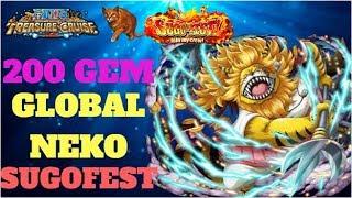 I BEAT THE GAME!! 200 Gem Nekomamushi Sugofest - One Piece Treasure Cruise