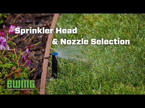 Landscape Irrigation Sprinkler Head and Nozzle Selection