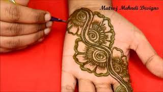 Easy Simple  Arabic Mehndi Designs For Hands Arabic Henna Designs Matroj Mehndi Designs