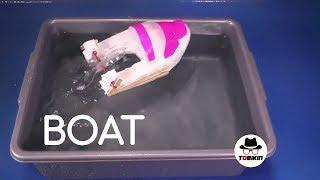 Membuat Kapal Tenaga Karet Gelang & Sendok (Rubber Band Spoon Boat)