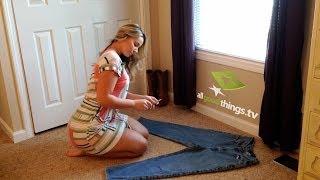 Olivia Jensen DIY Distress Jeans