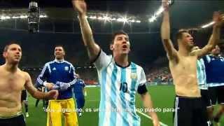 Messi festejando - Holanda vs. Argentina - Semifinal Brasil 2014