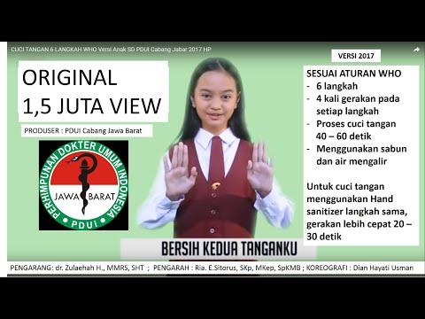 Cuci Tangan 6 Langkah Who Versi Anak Sd Pdui Cabang Jabar 2017 Hp