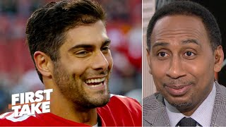 Stephen A. gives props to Jimmy Garoppolo … sort of | First Take
