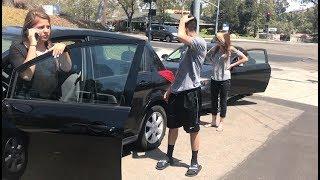 She got in a car accident..