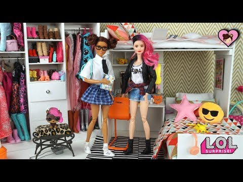 Xxx Mp4 Barbie School Morning Routine LOL Surprise Custom DIY Teen Dolls 3gp Sex