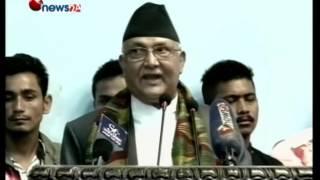 प्रधानमन्त्री दाहालको सम्बोधन र मयुर नाँच उस्तै उस्तै: केपी ओली- NEWS24 TV