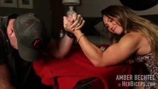 Epic Mixed Armwrestling Match Neither Wants To Lose