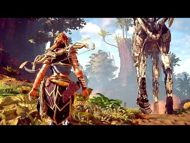 Horizon Zero Dawn - 1 Hour of AMAZING Gameplay (PS4) 2017