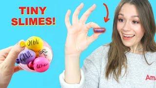 MAKING MINI SLIME DIYS! *TINY PEACHYBBIES SECRET SLIME SHOP RECIPES*