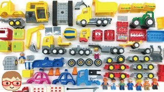 Excavator for kids | Lorry truck for children | Car assembly for kids | Truck toys