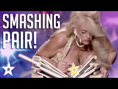 Xxx Mp4 Woman SMASHES OBJECTS With BREASTS Got Talent Global 3gp Sex