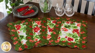 How to Make Scalloped Placemats | A Shabby Fabrics Sewing Tutorial