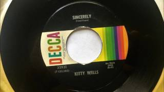Sincerely , Kitty Wells , 1972