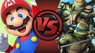 MARIO vs TEENAGE MUTANT NINJA TURTLES! Cartoon Fight Club Episode 78
