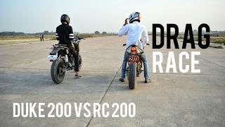 KTM RC200 Vs Duke 200 | Drag race
