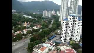 ماليزيا - منظر من الدور 16 في الصباح من مدينة بينانج