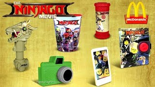 2017 McDONALD'S LEGO NINJAGO MOVIE HAPPY MEAL TOYS FULL SET 6 KIDS FREE VIDEO GAME CODES US UNBOXING