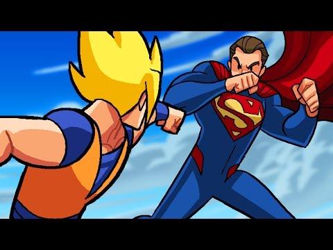 Dragon Ball Z vs DC Superheroes - What If Battle -  [ DBZ / DBS  Parody
