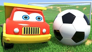 Little Toy Trucks Twins Playing Soccer at the Valley - Funny Toys Cartoon