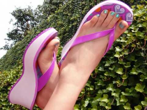 thong sandal feet