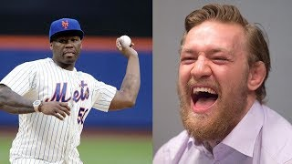 50 Cent Gets a 2nd Chance at a 1st Pitch, CHALLENGES Conor McGregor