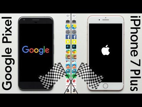 Google Pixel XL vs. iPhone 7 Plus Speed Test