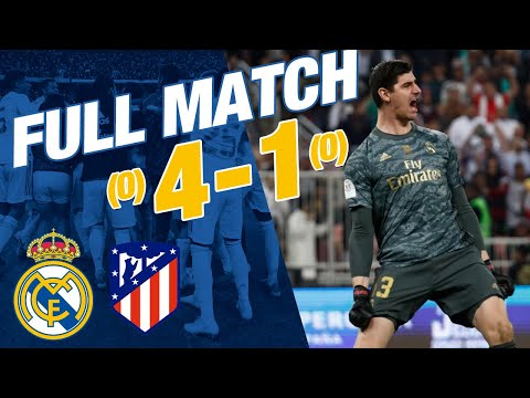 FULL MATCH Real Madrid 0 0 Atlético 4 1 penalties Spanish Super Cup 2019 20 final