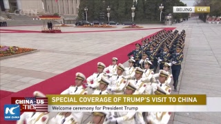 LIVE: Xi Jinping hosts welcome ceremony for Donald Trump in Beijing