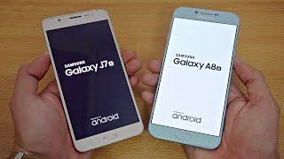 Samsung Galaxy A8 (2016) vs Galaxy J7 (2016) - Speed Test! (4K)