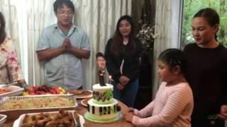 Espanto Family Celebrating Darren's Birthday in Canada (05-24-2017)