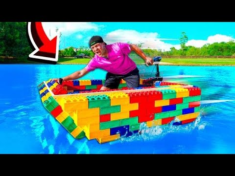 I BUILT A REAL WORKING LEGO BOAT