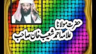 Allama Ahmed Shoaib Khan Apni apni Qismat