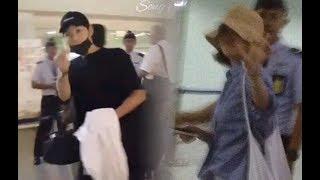 Song Joong Ki & Song Hye Kyo @ Bali Airport after their vacation