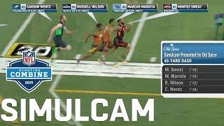 40-Yard Dash Simulcam: Sweat vs. AB, OBJ, & Zeke | Nick vs. Joey Bosa & More!