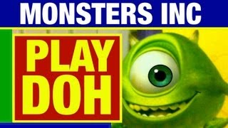 Play Doh Monsters Inc Disney Pixar Mold A Monster Toy Review by Mike Mozart of TheToyChannel