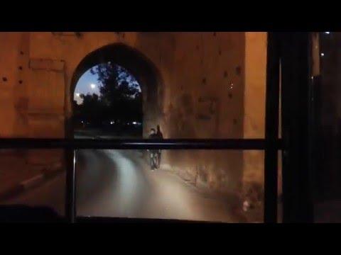 Isuzu LT Manuel Bus 1401 City Bus Ligne 5 au Bd Bab Lakhmis Meknès
