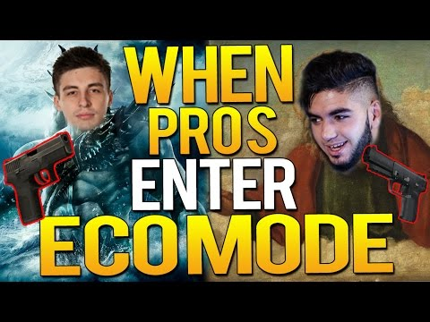 CS:GO - WHEN PRO PLAYERS ENTER ECO-MODE(BEST ECO  ROUNDS EVER!)
