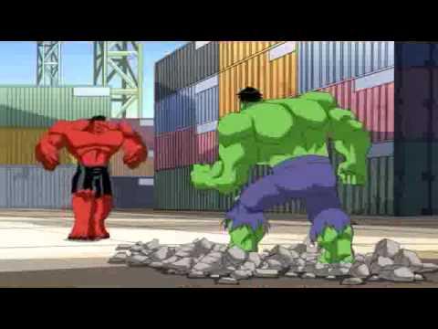 Os Vingadores Hulk verde vs Hulk Vermelho