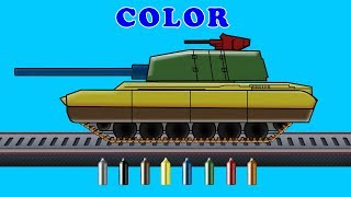 Army Tank | Learn Colors | Video For Kids