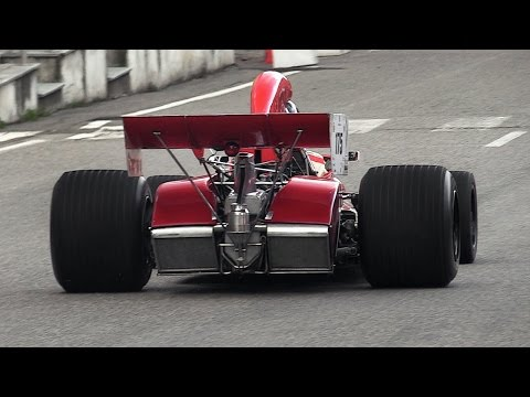 1972 BRM P180 F1 Car - 3.0L V12 Engine Sound at Vernasca Silver Flag 2016