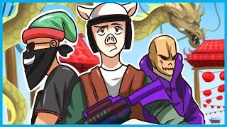 CHINA NUMBAH ONE!! - H1Z1 Funny Moments Asia Server Edition! w/ Pineapples & Marksman!