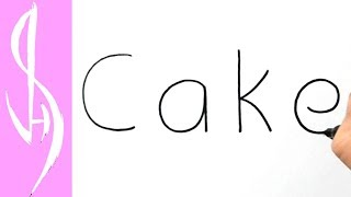 How to Turn Words Cake into a Cartoon #29