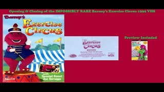 Barney's Exercise Circus IMPOSSIBLY RARE 1999 VHS Opening & Closing
