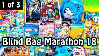 Surprise Blind Bag Marathon 18 - Part1 - Tokidoki Hello Kitty, Disney, Vocaloid, Shopkins and MORE!