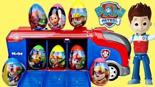 Nick PAW PATROL CRUISER Toy Egg Surprises, Skye Chase Ryder Mission Pups Best Learn Colors / TUYC