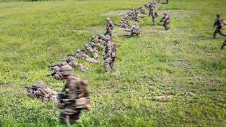 Platoon Attack On Mock Enemy Position – U.S. Marines Training In S. Korea