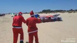 Papá Noel llega a Lepe en verano por el cambio climático